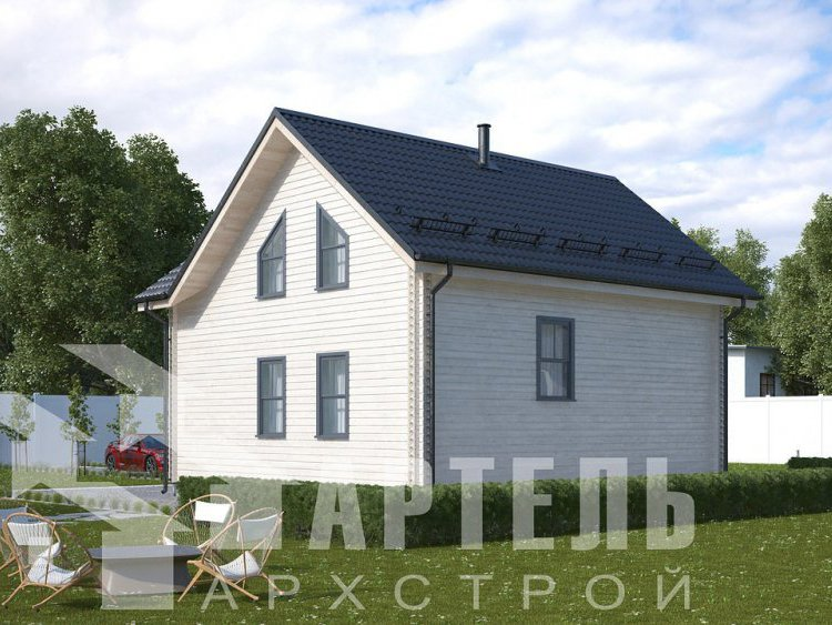 дом из профилированного бруса, проект Вариант 8,7 Б фотография 5955