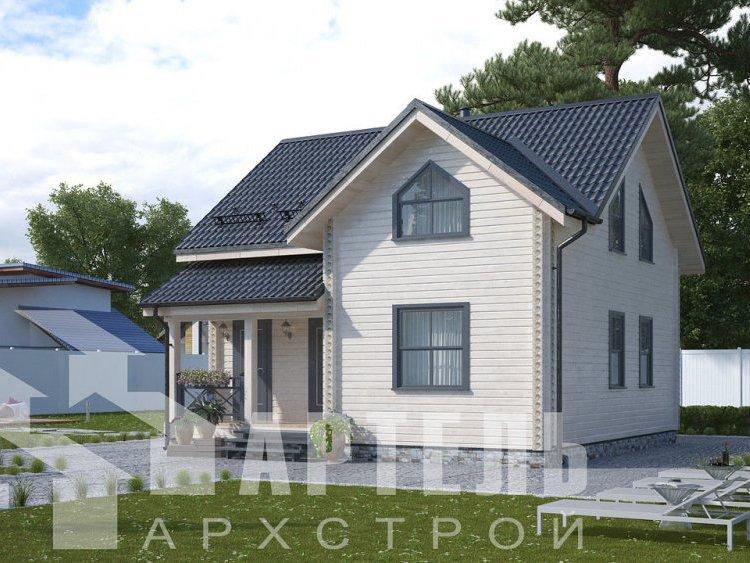 дом из профилированного бруса, проект Вариант 8,7 Б фотография 5956