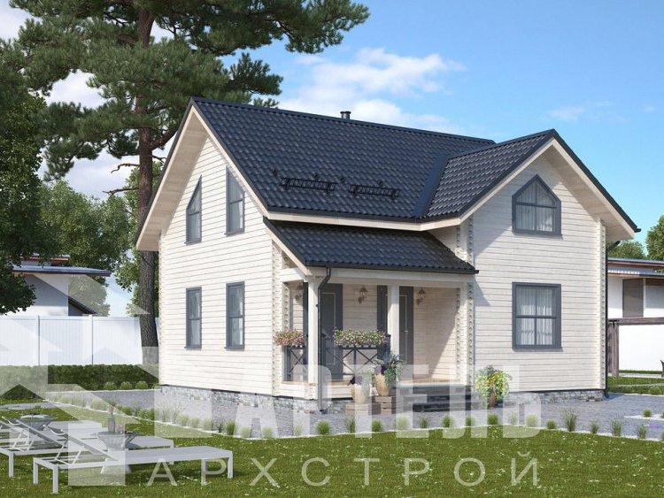 дом из профилированного бруса, проект Вариант 8,7 Б фотография 5957