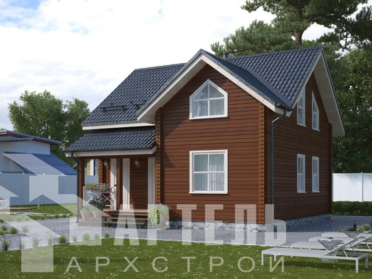 дом из профилированного бруса, проект Вариант 8,7 Б фотография 5958