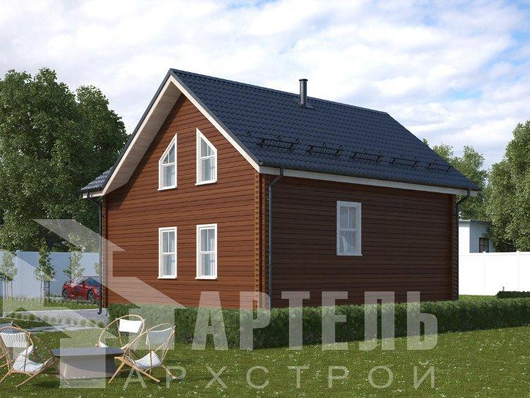 дом из профилированного бруса, проект Вариант 8,7 Б фотография 5959