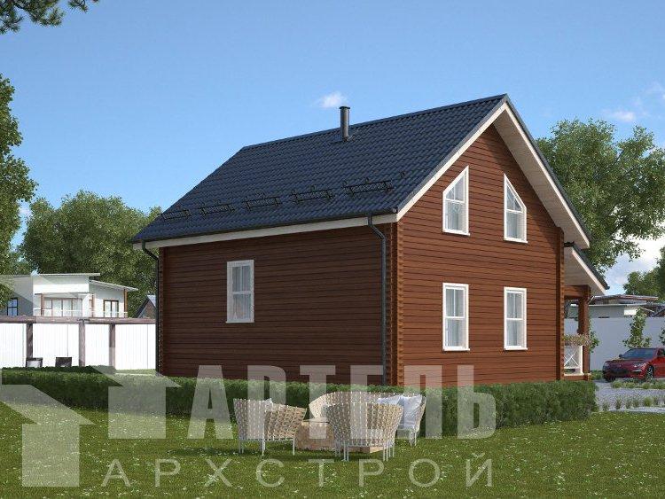 дом из профилированного бруса, проект Вариант 8,7 Б фотография 5960