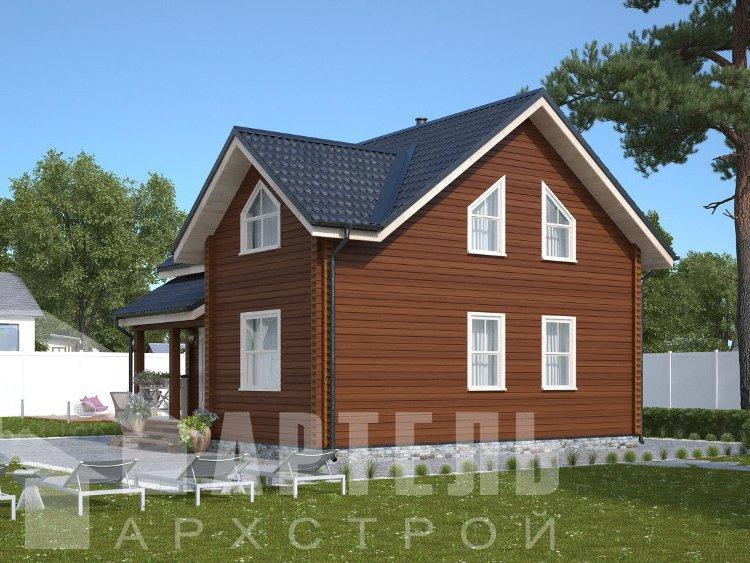 дом из профилированного бруса, проект Вариант 8,7 Б фотография 5961