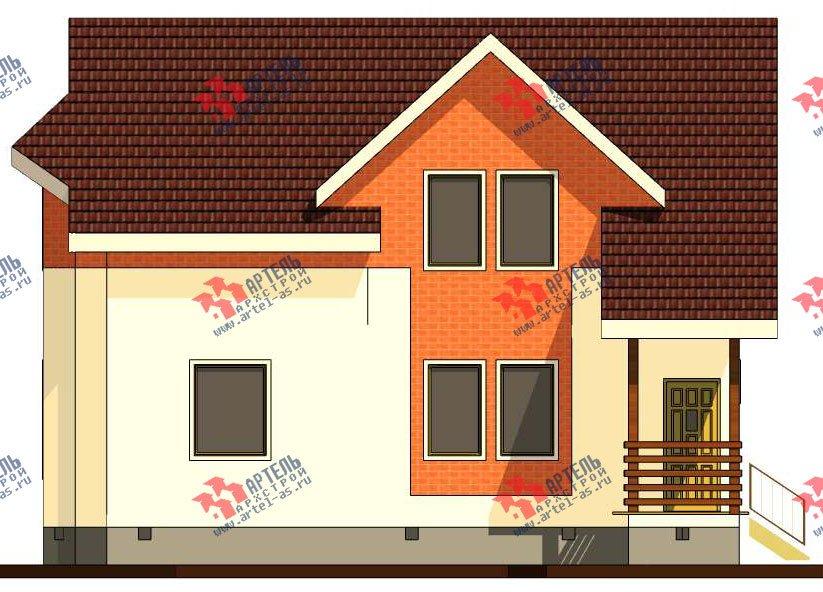 двухэтажный дом из профилированного бруса камерной сушки площадью от 150 до 200 кв. м. с  террасой, эркером, проект Вариант 8 фотография 2813