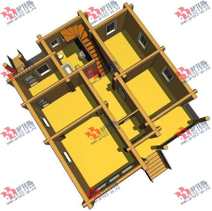 двухэтажный дом из оцилиндрованного бревна площадью от 150 до 200 кв. м. с  мансардой, проект Вариант 7 фотография 3102