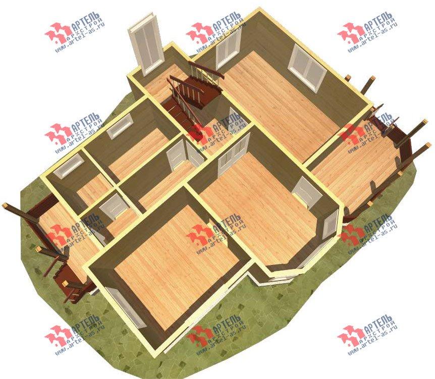 двухэтажный дом из бруса площадью от 150 до 200 кв. м. с  эркером, проект Вариант 11.2 В фотография 3156