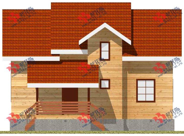 двухэтажный дом из бруса площадью от 150 до 200 кв. м. с  мансардой, проект Вариант 11 Л-2 фотография 3171