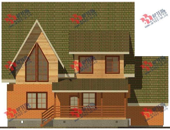 двухэтажный дом из камня площадью свыше 200 кв. м. с  террасой, проект Вариант 29 фотография 3183