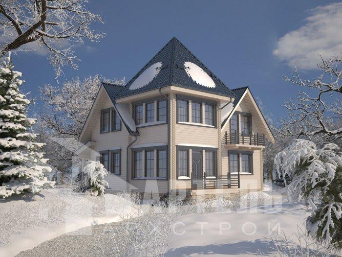 двухэтажный дом из профилированного бруса площадью от 150 до 200 кв. м. с  балконом, мансардой, проект Вариант 9 К фотография 4754