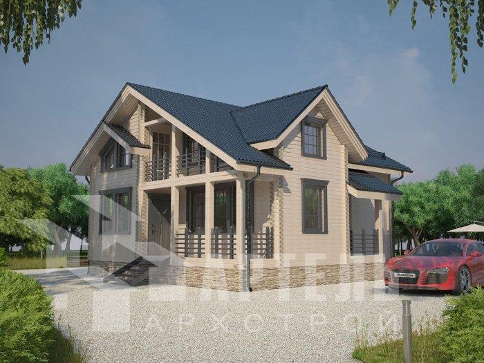 двухэтажный дом из профилированного бруса площадью от 100 до 150 кв. м. с  балконом, проект Вариант 9.5 К фотография 4732