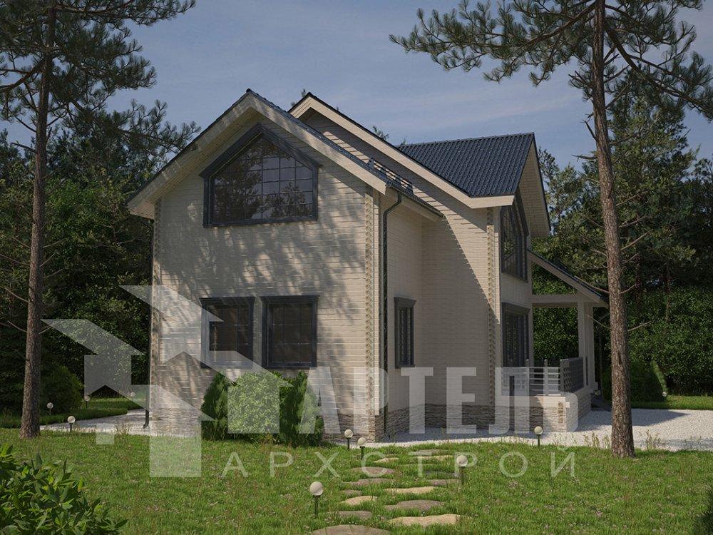 двухэтажный дом из профилированного бруса площадью от 150 до 200 кв. м. с  мансардой, террасой, проект Вариант 9.5 Т фотография 4579