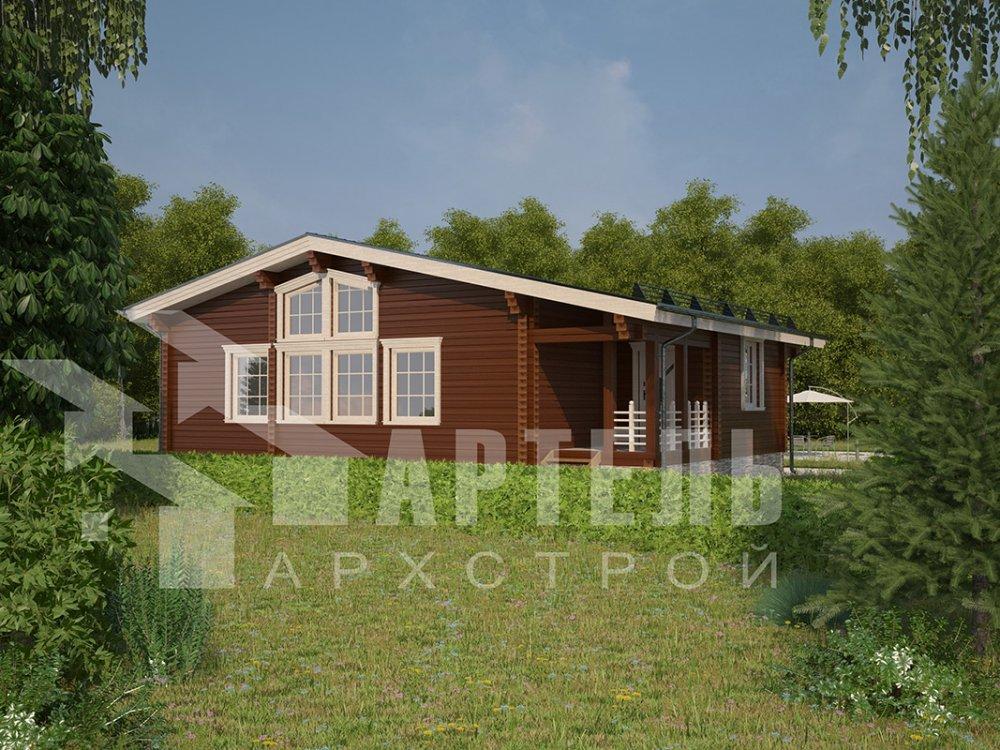одноэтажный дом из профилированного бруса площадью от 100 до 150 кв. м. с  террасой, проект Вариант 9.8 К фотография 4057