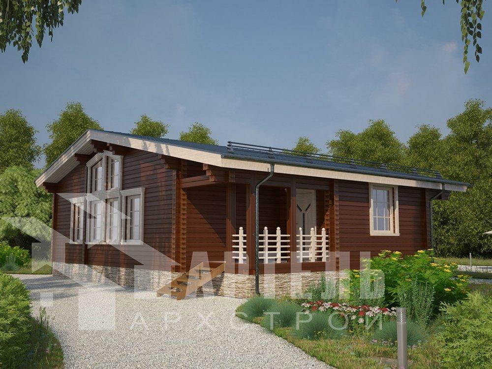 одноэтажный дом из профилированного бруса площадью от 100 до 150 кв. м. с  террасой, проект Вариант 9.8 К фотография 4064