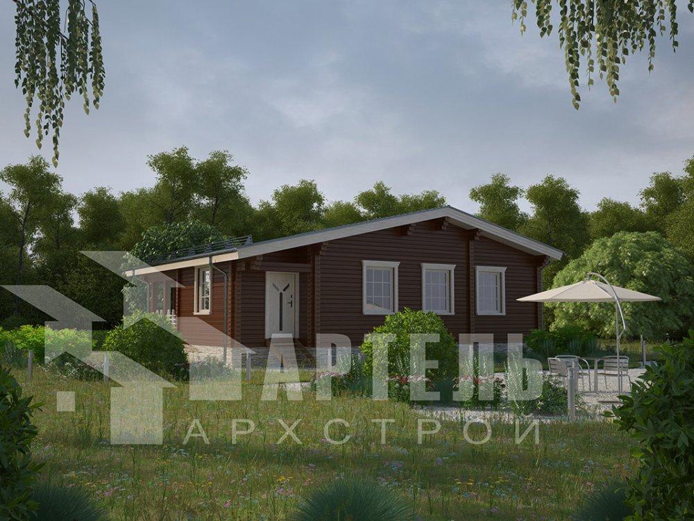 одноэтажный дом из профилированного бруса площадью от 100 до 150 кв. м. с  террасой, проект Вариант 9.8 К фотография 4063