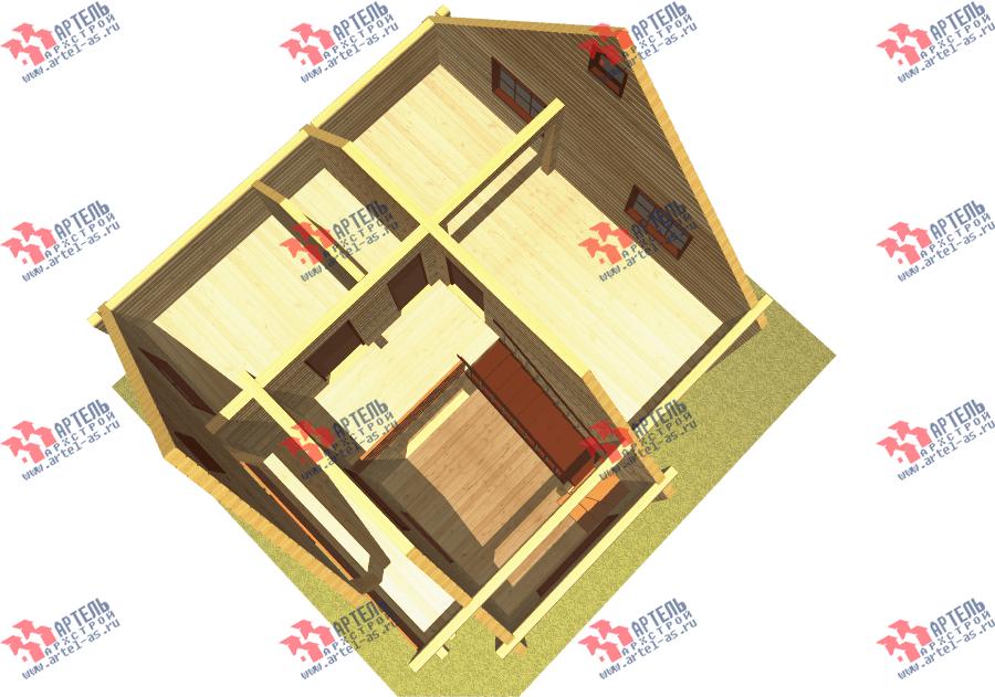двухэтажный дом из бруса площадью от 100 до 150 кв. м. с  балконом, мансардой, проект Вариант 8 Ф фотография 3340