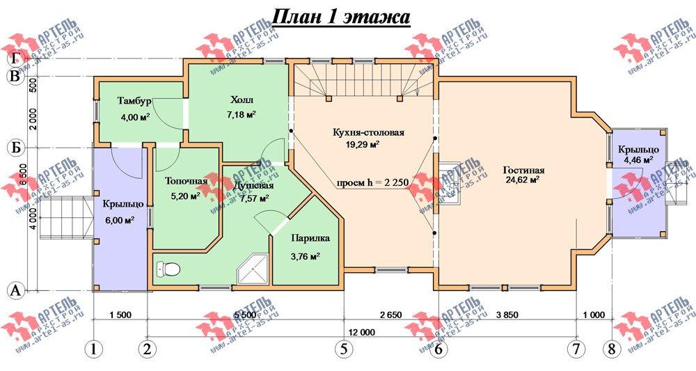 трёхэтажный дом из бруса площадью свыше 200 кв. м. с  балконом, мансардой, проект Вариант 6.3 Н фотография 2299