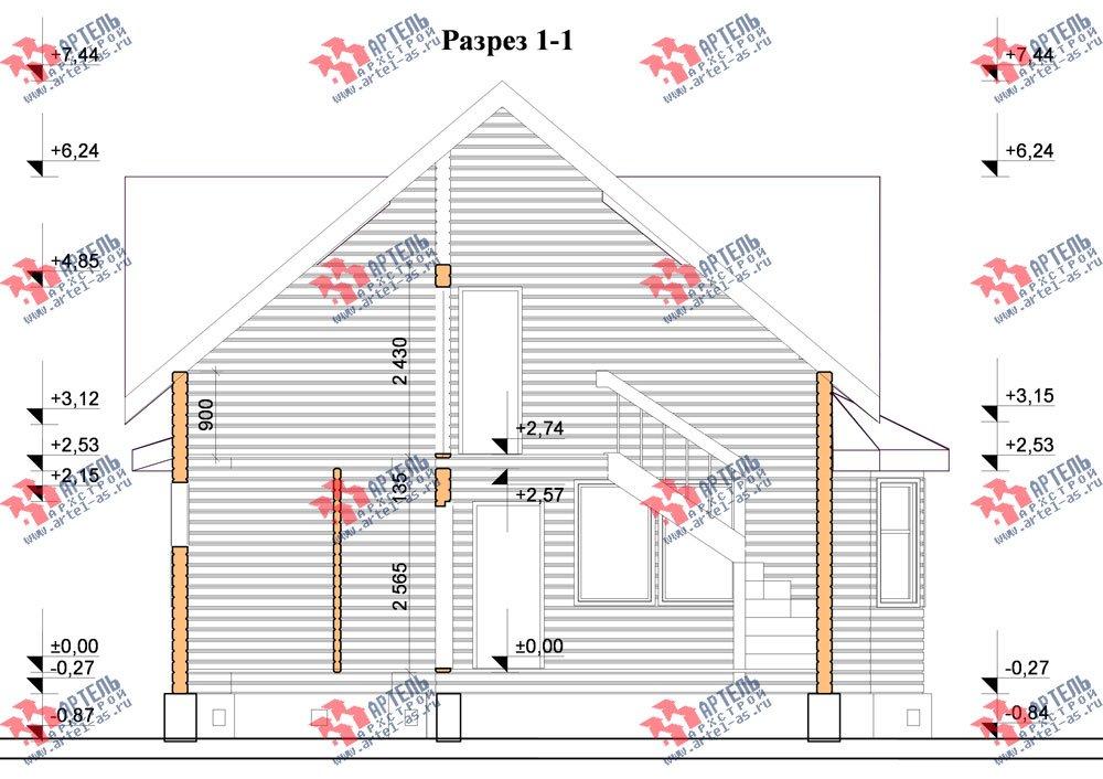 двухэтажный дом из бруса площадью от 150 до 200 кв. м. с  балконом, мансардой, террасой, эркером, проект Вариант 8 К-3 фотография 2470