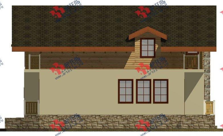 двухэтажный дом омбинированные дома площадью от 150 до 200 кв. м. с  балконом, эркером, проект Вариант 26 Комбинированный фотография 2828