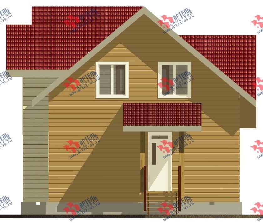 двухэтажный дом из профилированного бруса камерной сушки площадью от 100 до 150 кв. м. с  мансардой, проект Вариант 4 фотография 2512