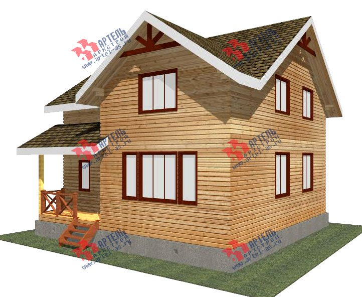 двухэтажный дом из бруса площадью от 100 до 150 кв. м. с  мансардой, проект Вариант 9 Ж-1 фотография 2565