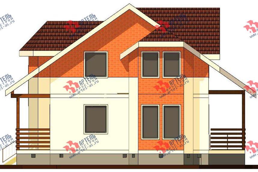 двухэтажный дом из профилированного бруса камерной сушки площадью от 150 до 200 кв. м. с  террасой, эркером, проект Вариант 8 фотография 2814