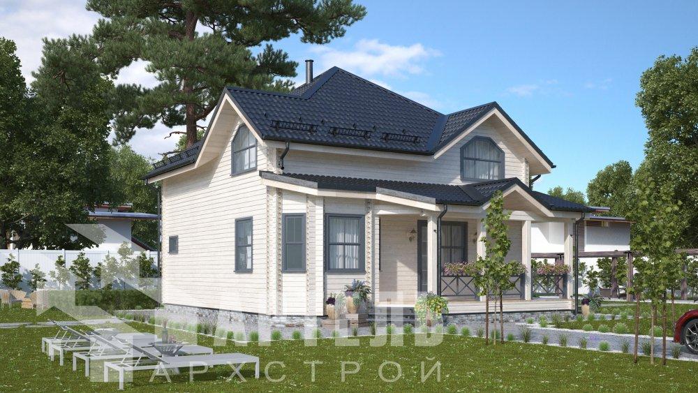 одноэтажный дом из профилированного бруса площадью от 150 до 200 кв. м., проект Вариант 9.3В фотография 5630