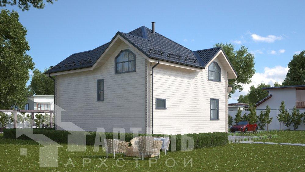 одноэтажный дом из профилированного бруса площадью от 150 до 200 кв. м., проект Вариант 9.3В фотография 5631