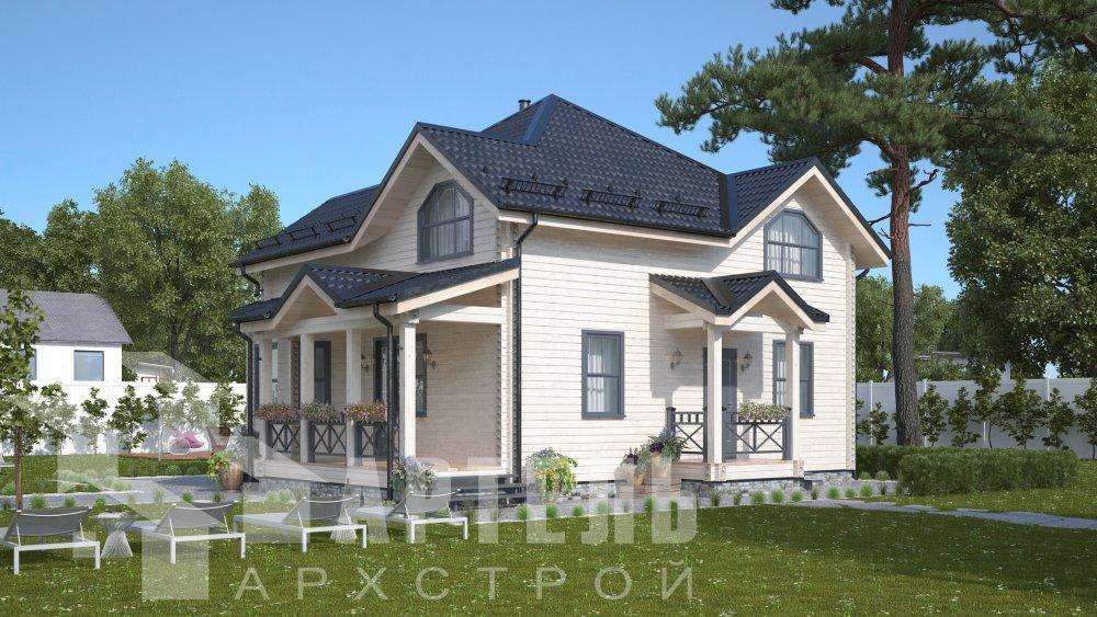 одноэтажный дом из профилированного бруса площадью от 150 до 200 кв. м., проект Вариант 9.3В фотография 5632