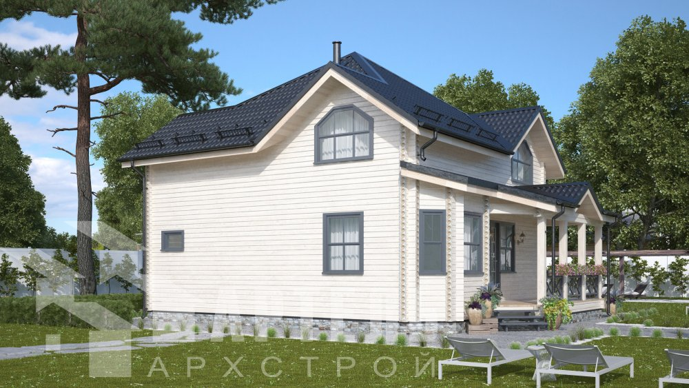 одноэтажный дом из профилированного бруса площадью от 150 до 200 кв. м., проект Вариант 9.3В фотография 5633