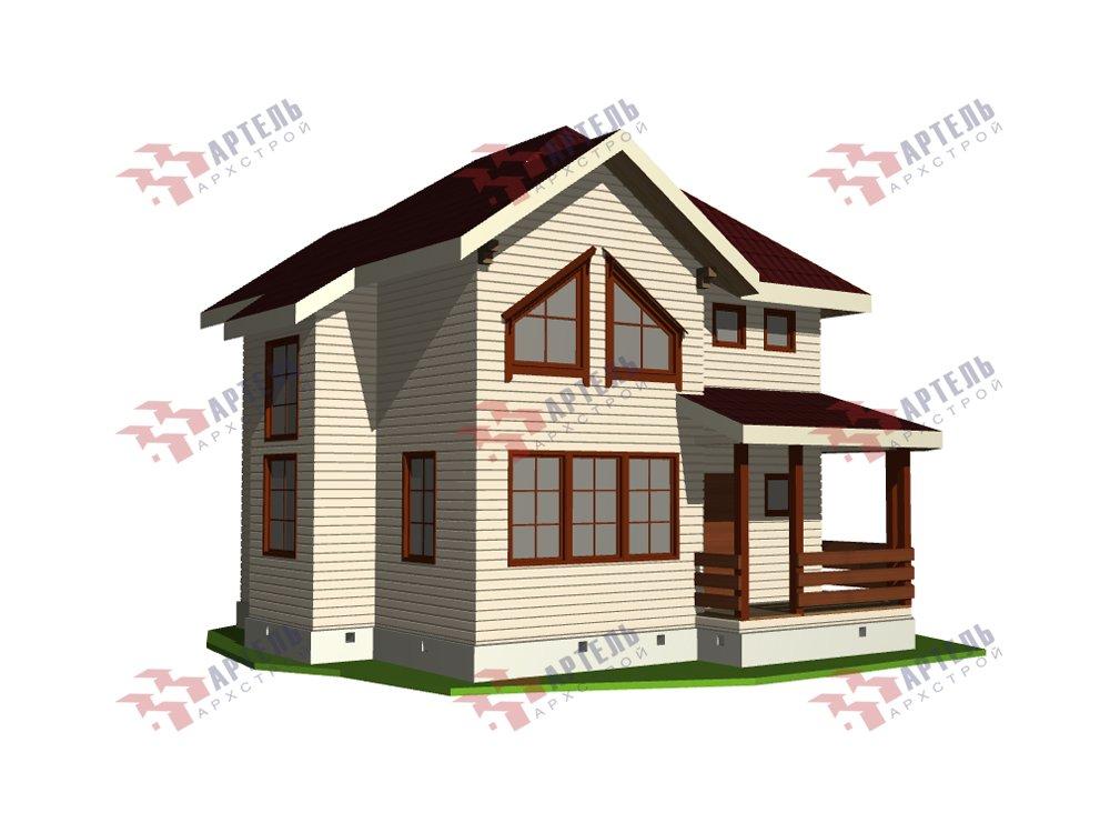 двухэтажный дом из профилированного бруса площадью от 100 до 150 кв. м. с  мансардой, террасой, эркером, проект Вариант 9.3 А фотография 5917