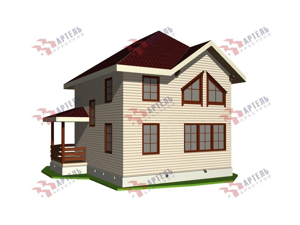 двухэтажный дом из профилированного бруса площадью от 100 до 150 кв. м. с  мансардой, террасой, эркером, проект Вариант 9.3 А фотография 5918