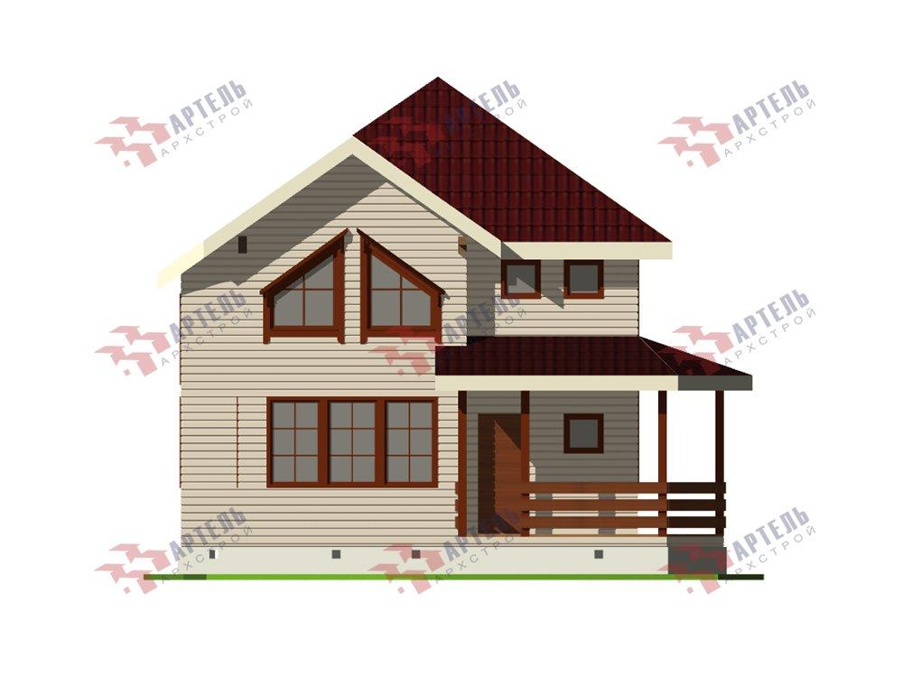 двухэтажный дом из профилированного бруса площадью от 100 до 150 кв. м. с  мансардой, террасой, эркером, проект Вариант 9.3 А фотография 5919