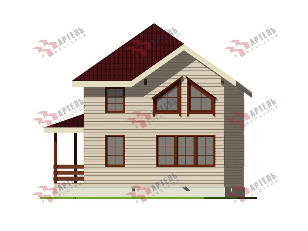 двухэтажный дом из профилированного бруса площадью от 100 до 150 кв. м. с  мансардой, террасой, эркером, проект Вариант 9.3 А фотография 5921