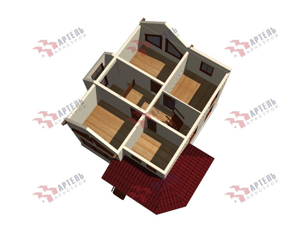 двухэтажный дом из профилированного бруса площадью от 100 до 150 кв. м. с  мансардой, террасой, эркером, проект Вариант 9.3 А фотография 5930