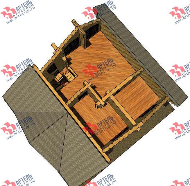 двухэтажный дом из оцилиндрованного бревна площадью от 100 до 150 кв. м. с  террасой, проект Вариант 4 фотография 3057