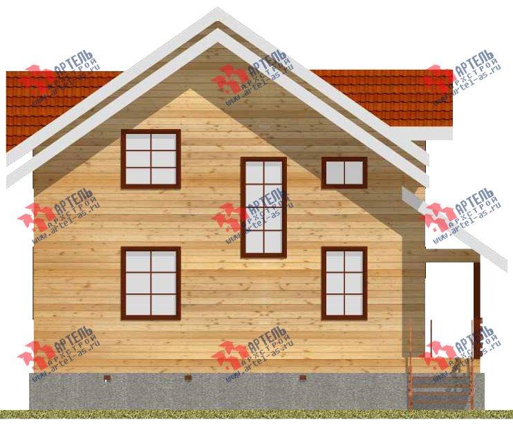 двухэтажный дом из бруса площадью от 150 до 200 кв. м. с  мансардой, проект Вариант 11 Л-2 фотография 3172