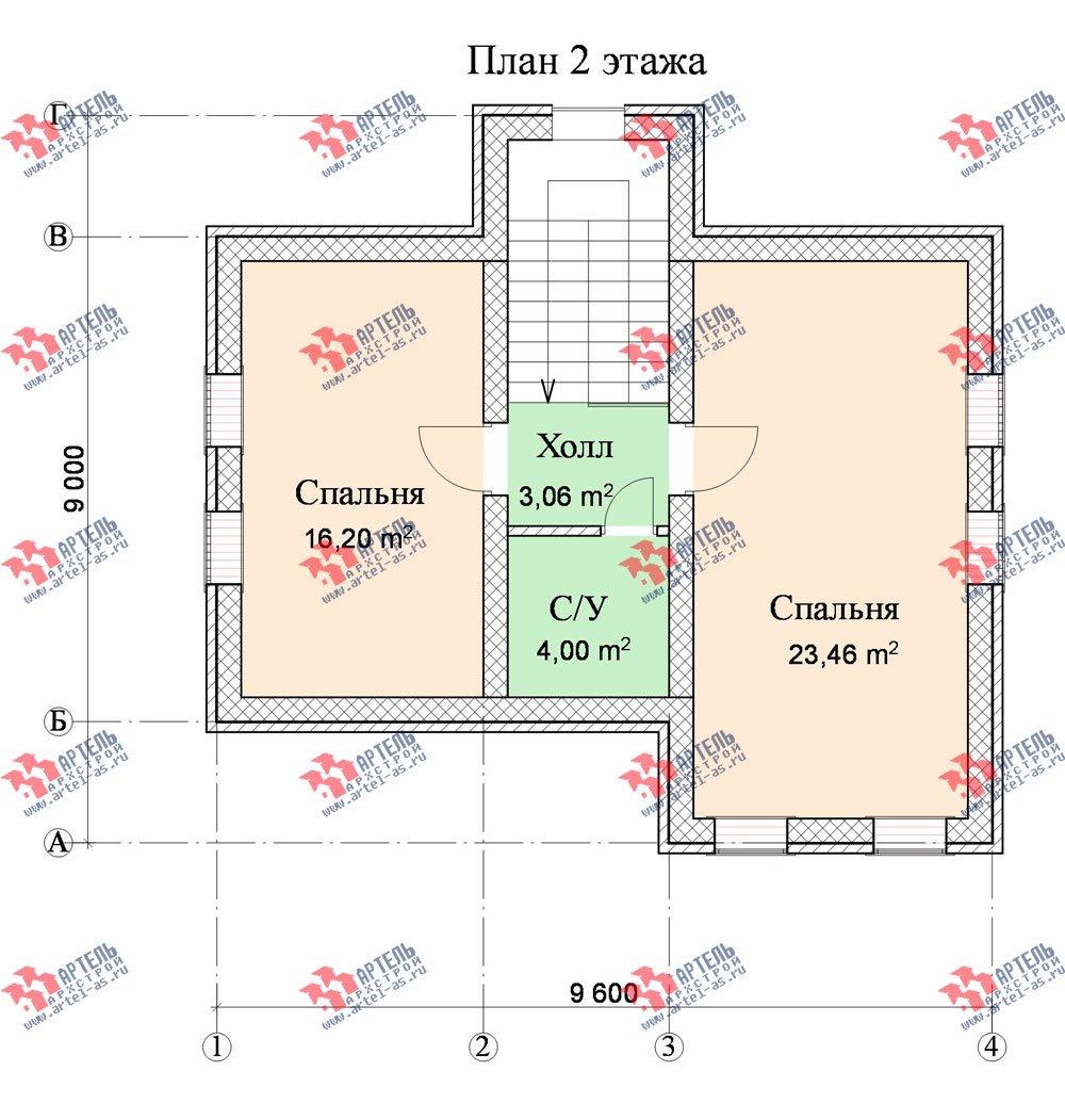 двухэтажный дом из камня площадью от 100 до 150 кв. м. с  эркером, проект Вариант 9 фотография 537
