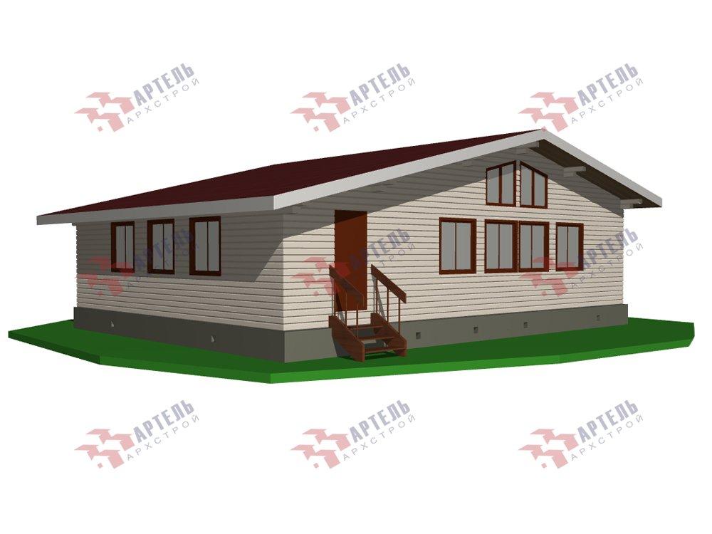 одноэтажный дом из профилированного бруса площадью от 100 до 150 кв. м. с  террасой, проект Вариант 9.8 К фотография 5826