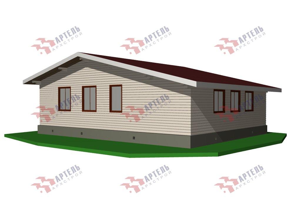 одноэтажный дом из профилированного бруса площадью от 100 до 150 кв. м. с  террасой, проект Вариант 9.8 К фотография 5827
