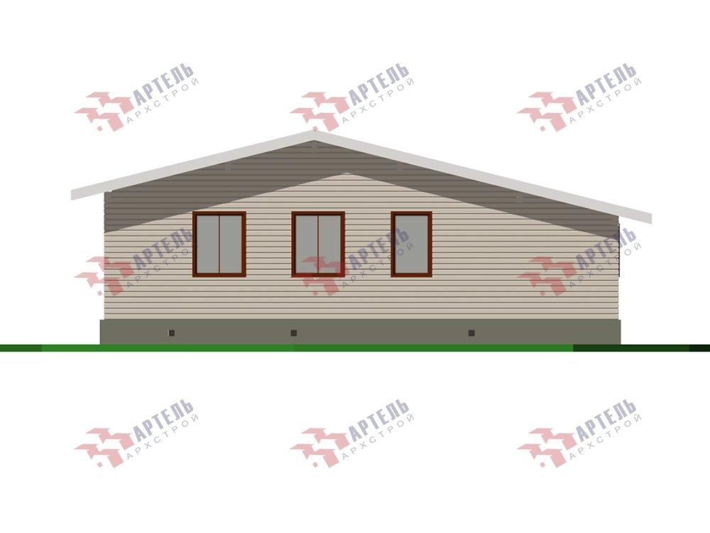 одноэтажный дом из профилированного бруса площадью от 100 до 150 кв. м. с  террасой, проект Вариант 9.8 К фотография 5823