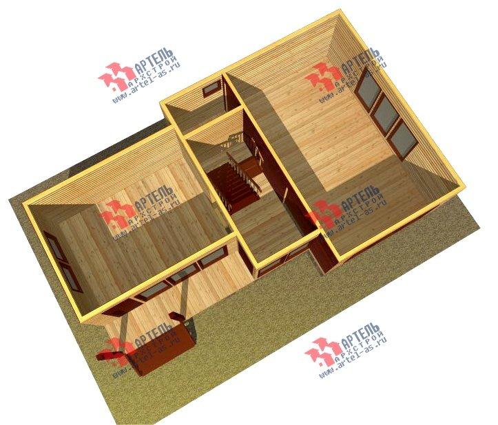 двухэтажный дом из бруса площадью до 100 кв. м. с  мансардой, проект Вариант 7 Л фотография 2170
