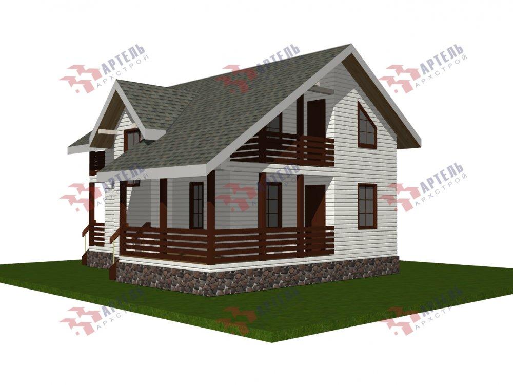 двухэтажный дом омбинированные дома площадью от 100 до 150 кв. м., проект Вариант 9,9К комбинированный фотография 5686