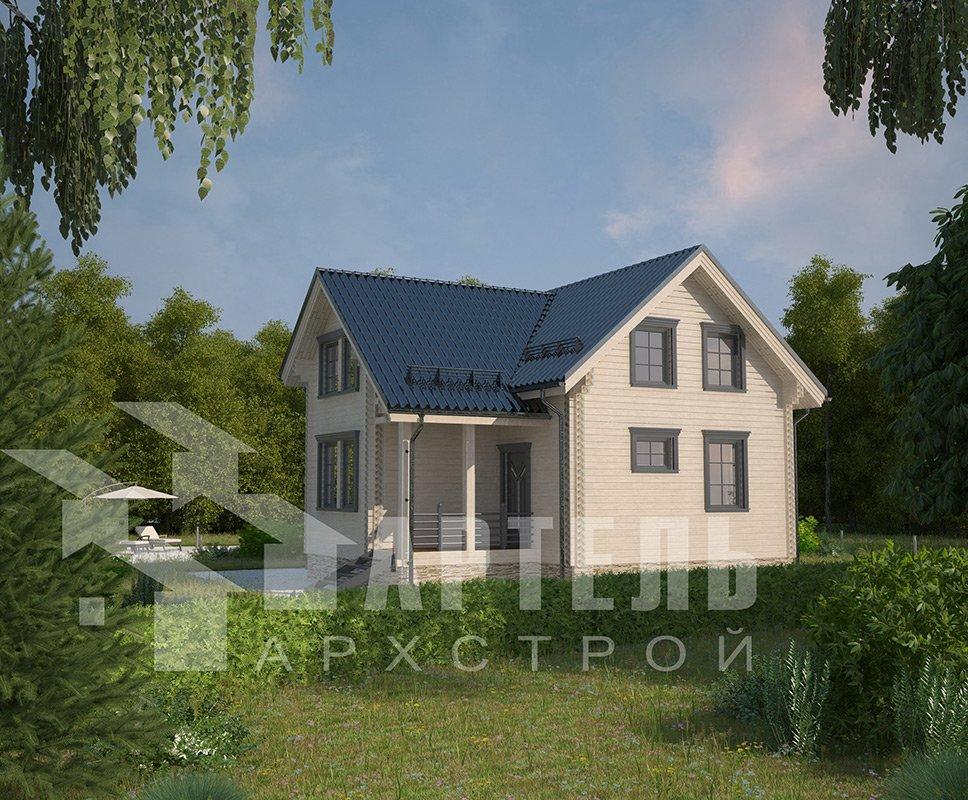 двухэтажный дом из профилированного бруса площадью от 100 до 150 кв. м. с  мансардой, эркером, проект Вариант 9 А фотография 4320