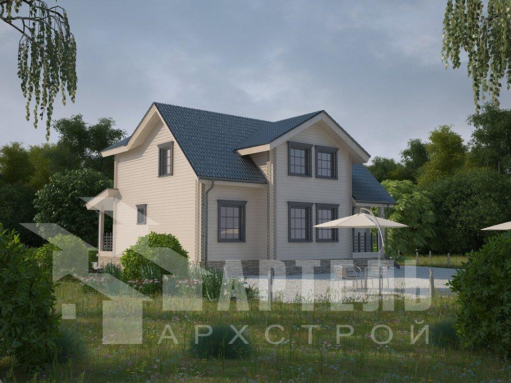 двухэтажный дом из профилированного бруса площадью от 150 до 200 кв. м., проект Вариант 9 О фотография 4495