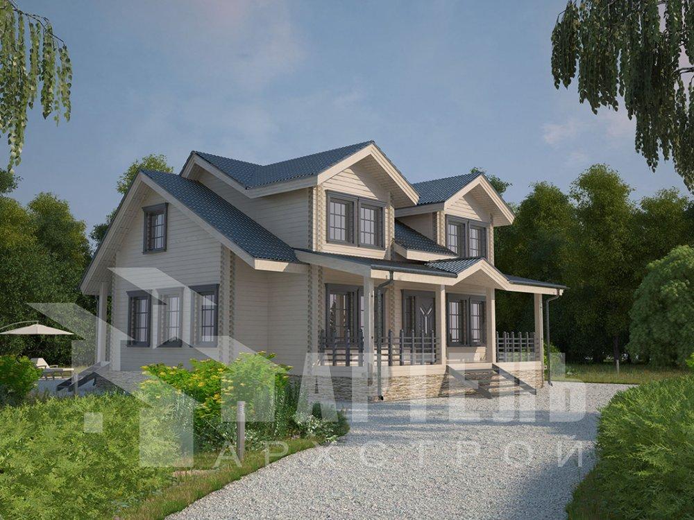 двухэтажный дом из профилированного бруса площадью от 150 до 200 кв. м., проект Вариант 9 О фотография 4493