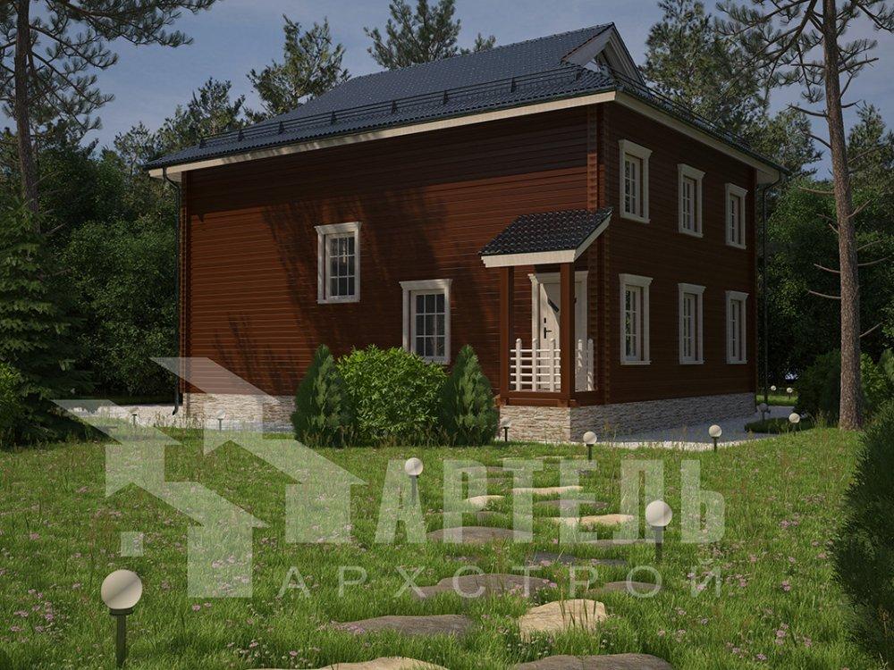 двухэтажный дом из профилированного бруса площадью свыше 200 кв. м. с  балконом, проект Вариант 9 Т фотография 4554