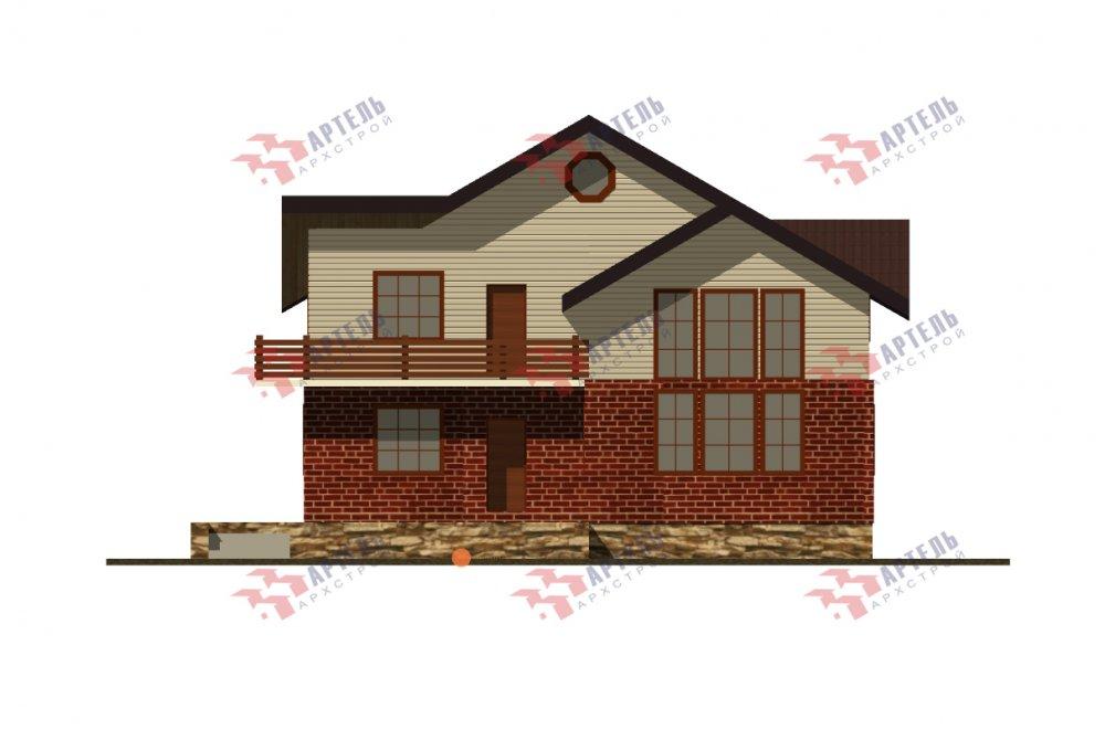 дом омбинированные дома, проект Вариант 12.6 А Комбинированный фотография 5524