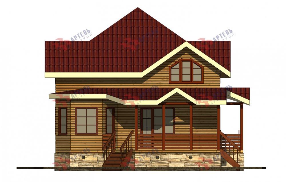 одноэтажный дом из профилированного бруса площадью от 150 до 200 кв. м., проект Вариант 9.3В фотография 5637