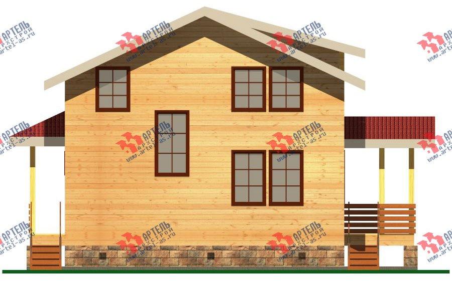 двухэтажный дом из бруса площадью от 100 до 150 кв. м. с  балконом, мансардой, террасой, проект Вариант 8 М фотография 2374