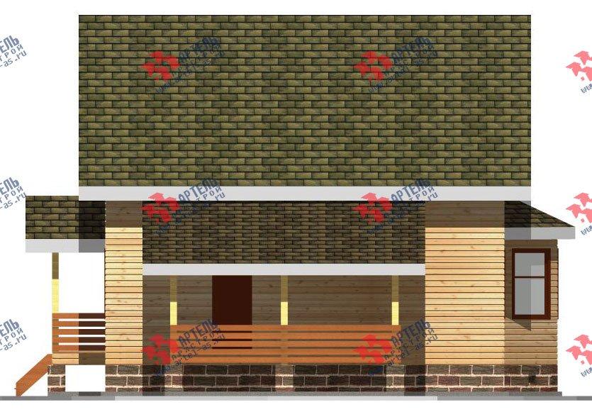двухэтажный дом из бруса площадью от 150 до 200 кв. м. с  балконом, мансардой, террасой, эркером, проект Вариант 8 С фотография 2384